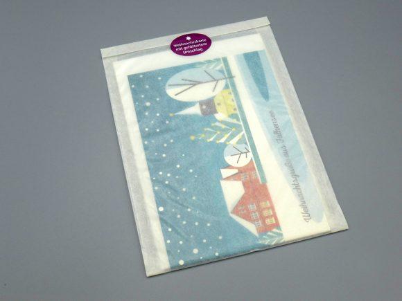 """Weihnachtskarte """"Anger"""", verpackt"""