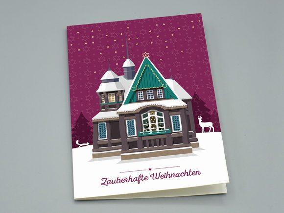 """Weihnachtskarte """"Hexenhaus"""""""