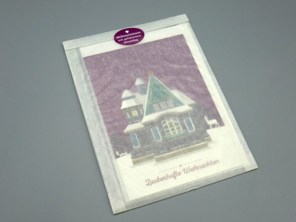 "Weihnachtskarte ""Hexenhaus"", verpackt"