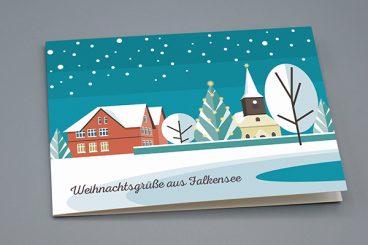 """Weihnachtskarte """"Anger"""""""