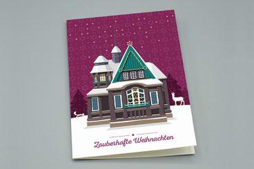 """Weinhachtskarte """"Hexenhaus"""""""